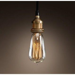 Retro Industriële Hanglamp   Rood messing   Inclusief Edison retro gloeilamp