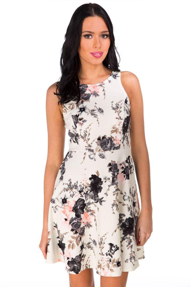 Floral Back Zip Dress