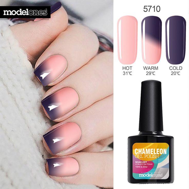 Modelones 10 ML Termo Temperatura de Color Cambio de Esmalte de Uñas de Gel UV uñas de Gel de Uñas Barniz de Uñas de Gel UV de Larga Duración Térmica Gel