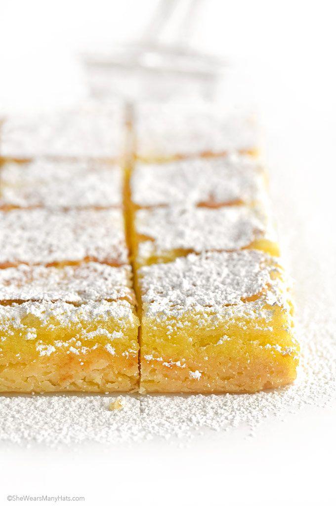 Lemon Bars Recipe shewearsmanyhats.com