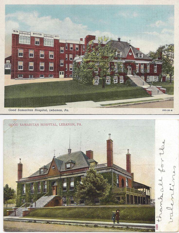 Lebanon PA Postcard Set Good Samaritan Hospital Posted 1907 / Unposted Color