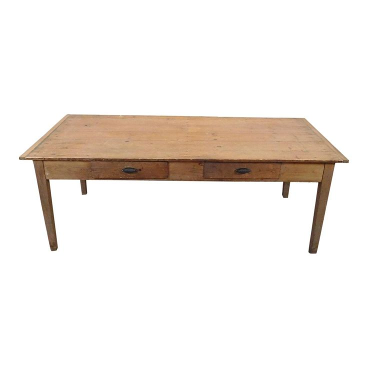 Image of Primitive Rustic Pine Dining Room Table
