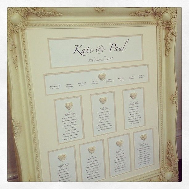 Kate & Paul's Cupid Table Plan, a wedding essential!