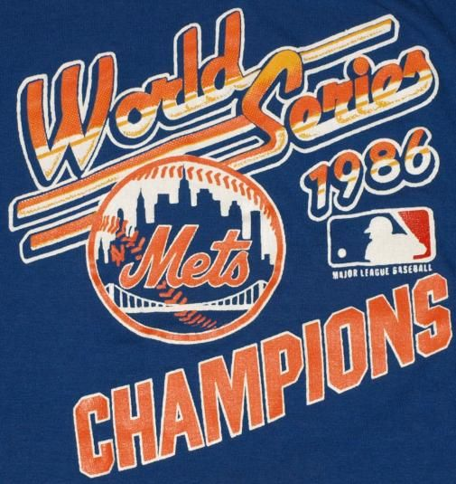 Vintage 1986 NY Mets World Series t-shirt. Excellent condition.