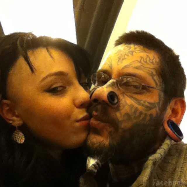 Lesya and Rouslan Toumaniantz before tattoo