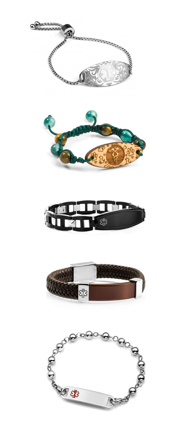 These are some of our best sellers for medical alert bracelets for men and women
