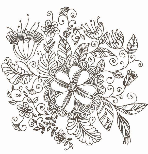 Japanese Design Patterns Line Drawing Swirl Flower Pattern Vector Graphic Free Vector Flower Drawing Design Flower Drawing Flower Line Drawings