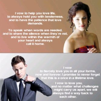 Wedding Vows From The Movie The Vow From The Moment I Watched The Wedding Scene Of This Movie I Have Loved Their Vows To Each Other They Are Meaningful And
