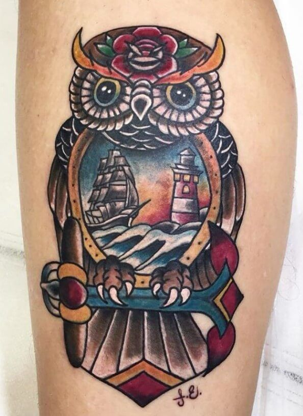 12 Best New School Owl Tattoo Designs Petpress In 2020 Owl Tattoo Design Owl Tattoo Tattoo Designs