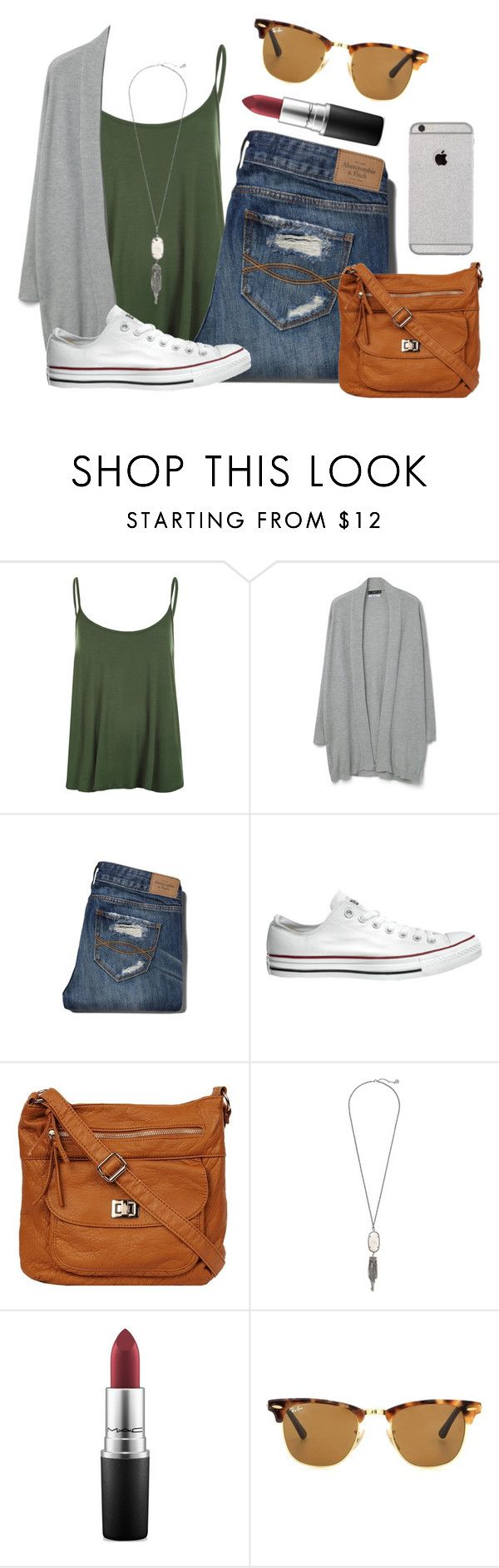 """""""Love is all we need ❣"""" by kari-luvs-u-2 ❤ liked on Polyvore featuring WearAll, MANGO, Abercrombie & Fitch, Converse, Kendra Scott, MAC Cosmetics and Ray-Ban"""