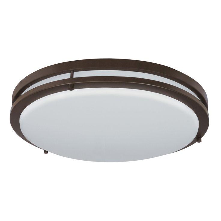 Good Earth Lighting Jordan 14in $65, 17in $90 Light Bronze LED Ceiling Flush Mount Light