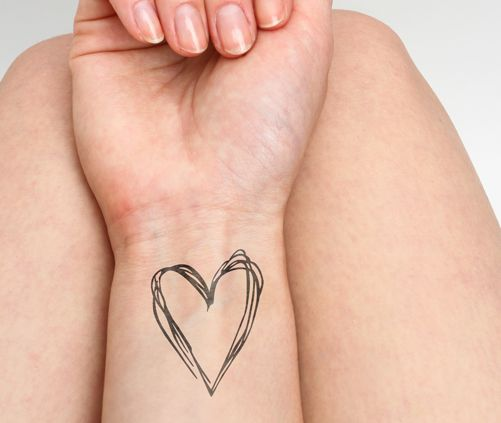 Heart's a Mess - temporary tattoo $5 | #tattoo #tattoos #temporarytattoo #tattify #ink #temporarytattoos #heart