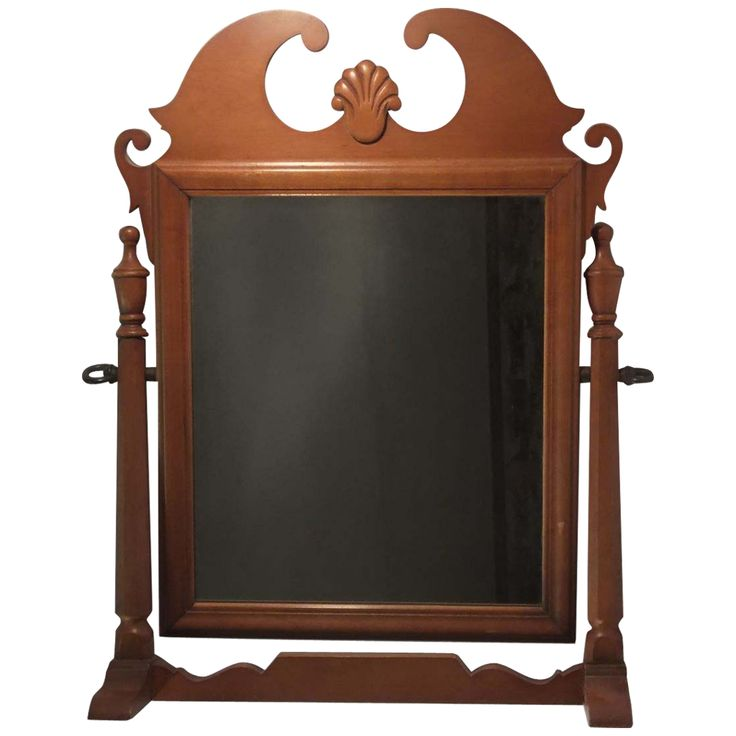 This Vintage American Shaving Grooming Dresser Top Mirror Is Beautifully Made In The Pillar