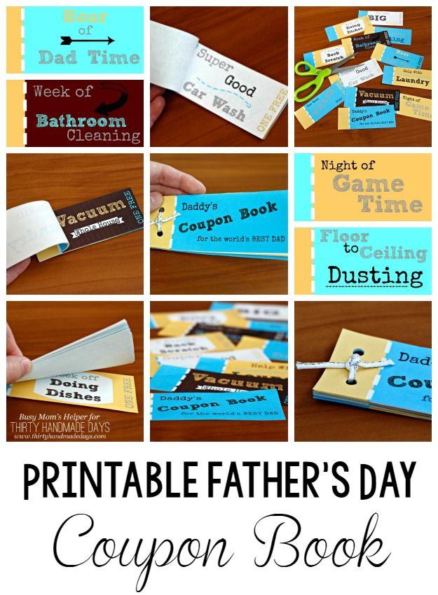 Printable Father's Day Coupon Book