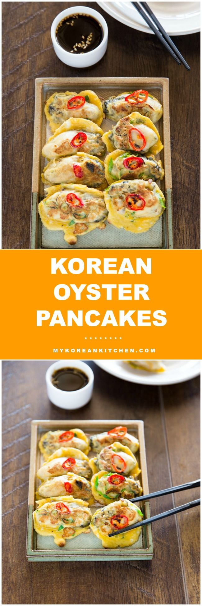 72 best korean food seafood images on pinterest korean cuisine how to make korean oyster pancakes mykoreankitchen forumfinder Choice Image