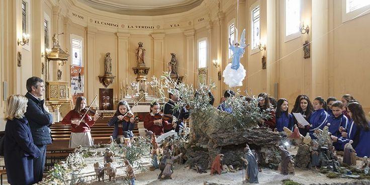 El alcalde de Guadalajara felicita la Navidad a los alumnos y profesores del Sagrado Corazón