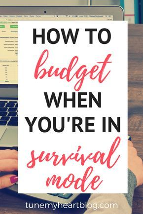 A step by step guide to starting a budget when you're financially sinking!