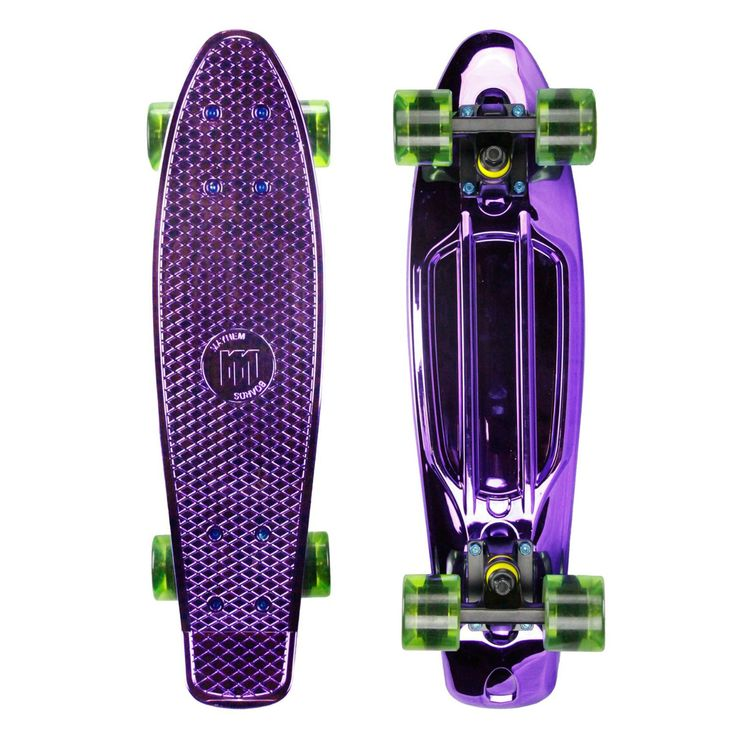 This durable Mayhem 22-in kids skateboard is great for cruising around town or tricks in the skate park. Its comes in a variety of colors but the Anodize Purple is one of our more popular choices. Mum