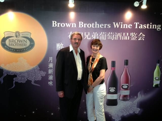 Ross and Judy Brown  celebrating the Mid Autumn Festival in China.