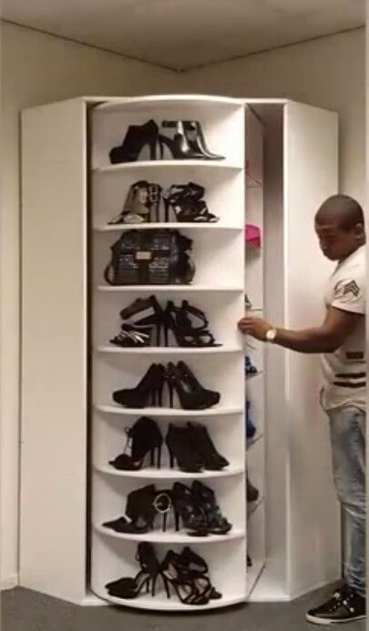 Rotating Shoe Rack Closet Designs Lazy Susan