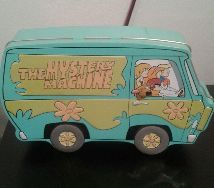 1998 Scooby Doo the Mystery Machine popcorn tin Hannah Barbara