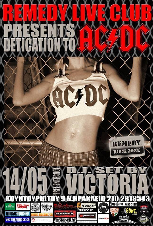 Wednesday 14/05 tribute to AC DC!  FREE ENTRANCE   More info -->http://goo.gl/k3BM2I