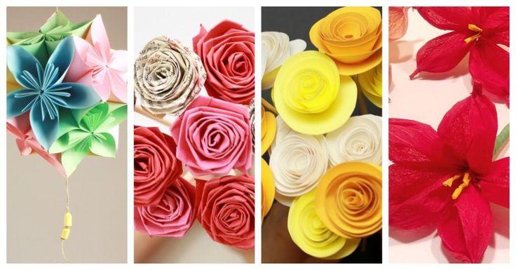 portada flores de papel