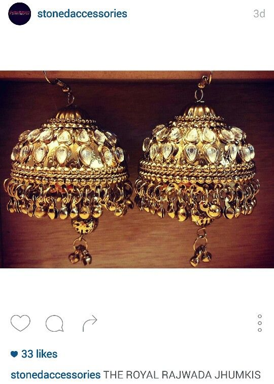 Rajwada jhumka earrings