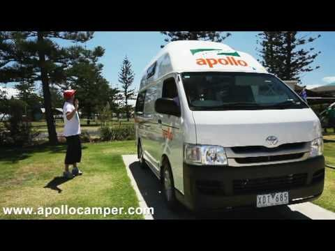 Campervan Hire Australia - Hitop part1 Show Through from Apollo Motorhomes - YouTube