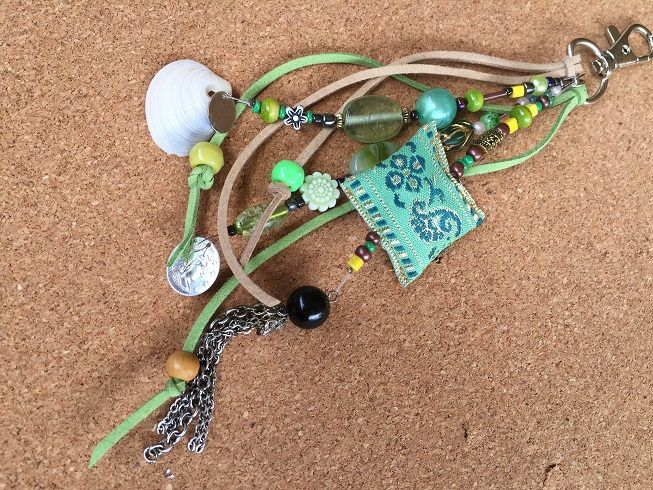 Gypsy key chain/Beach bag charm/gypsy bag charm/bohemian jewellery/key chain boho/gypsy beach bag charm gift key charm/key chain boho tassel by BelaCiganaBags on Etsy