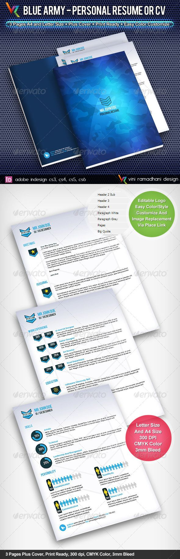 interview call letter format%0A Blue Army Resume Or CV