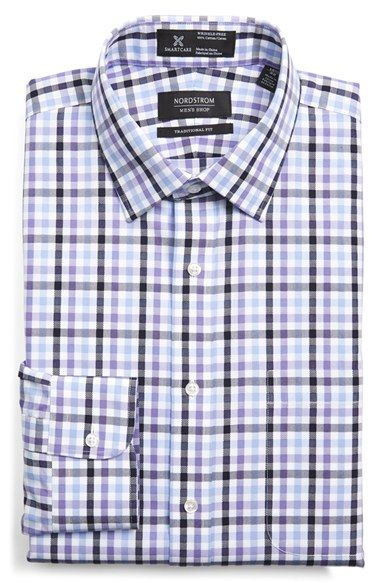 Free shipping and returns on Nordstrom Men's Shop Smartcare™ Traditional Fit Plaid Dress Shirt at Nordstrom.com. A classically styled, traditional fit dress shirt is updated with our signature wrinkle-free treatment anda colorful plaid-check pattern.
