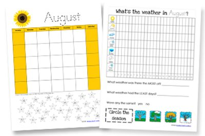 Complete the calendar and keep track of the seasons. http://www.homeschoolcreations.net/2014/08/updated-calendar-notebook-binder-printables/