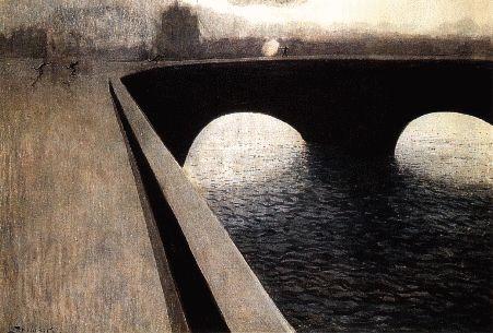 Léon Spilliaert (Belgique, 1881-1946) – La Poursuite (1910)