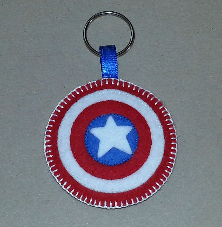 Captain America felt keyring