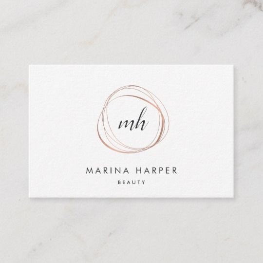 Modern Faux Rose Gold Abstract Business Card | Zazzle.com