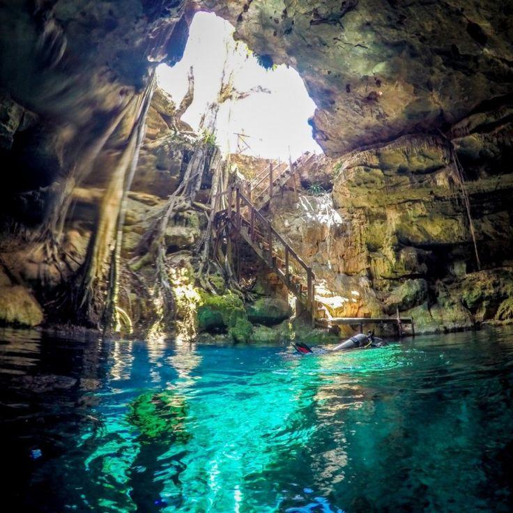 Cenotes en Mérida, México.