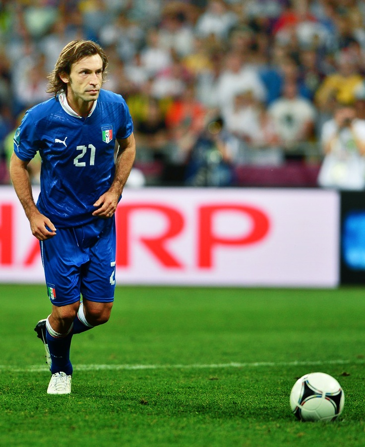 Pirlo... in 5 seconds this ball will be in the back of the net
