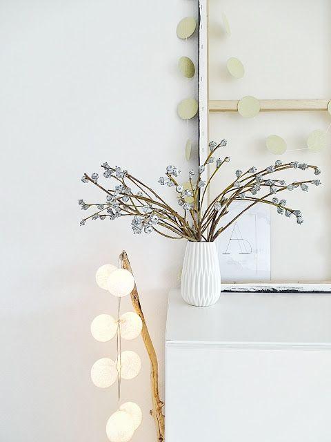 """Auf der """"Mammilade""""_n-Seite des Lebens: Hallo Februar! JanuarBLICK, schwarz-weiße Impressionen aus dem Wohnzimmer & Ast-Stehlampe"""