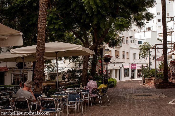 Plaza Victoria café in Marbella Town