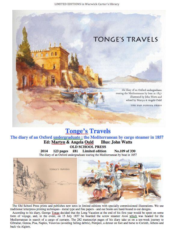 Tonge's Travels - OLD SCHOOL PRESS