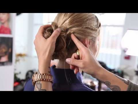 how to make a messy bun easy