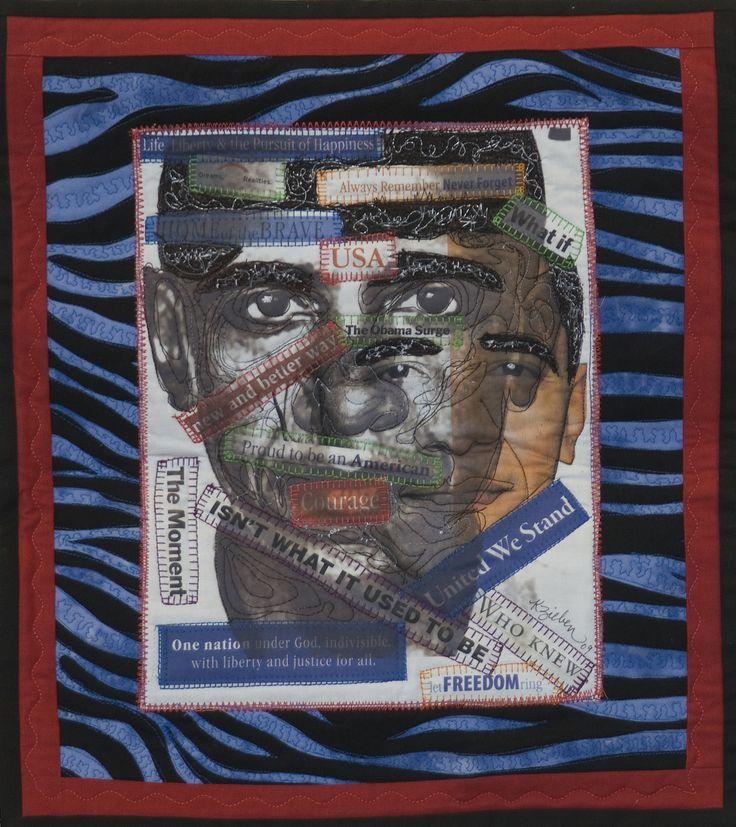 """Waves of Change"" quilt by Kathy Zieben"