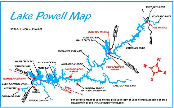 Lake Powell Map For The Most Detailed Maps Of Not All