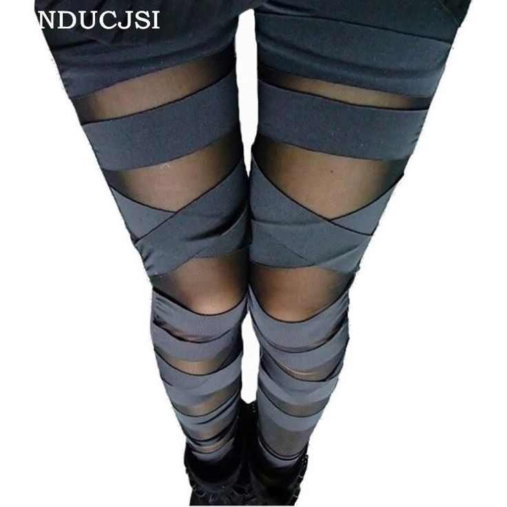 Bandage Leggings Charming Leggins Slim Women Punk Legins Lady 2017 Fas – Love Them Pants