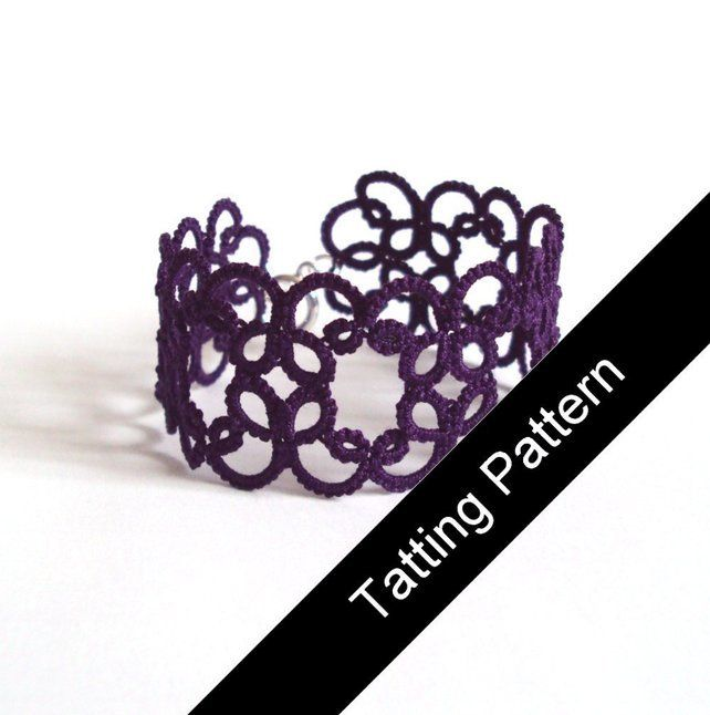 PDF Tatting Pattern - 'Christina' Bracelet - Beginner £2.30