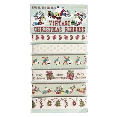 Vintage Christmas Ribbons (set of 6)