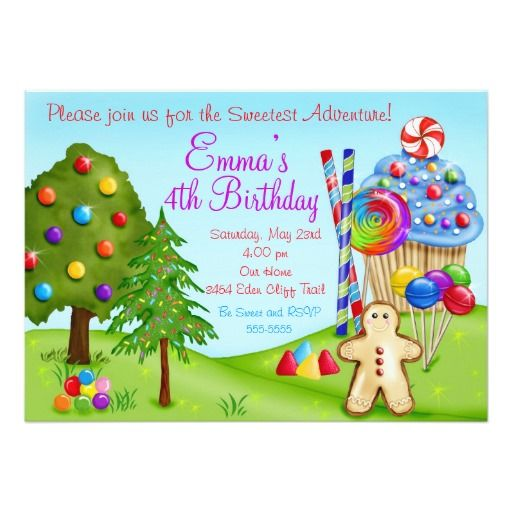 384 best Candyland Birthday Party Invitations images – Candyland Birthday Party Invitations