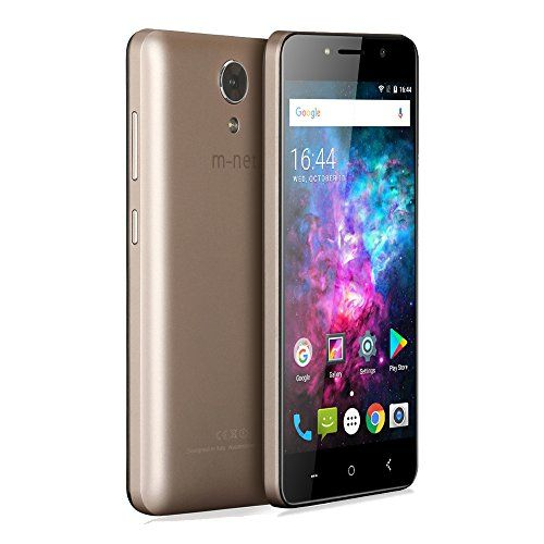 M-NET Power 1 Android 7.0 3g Smartphone con 5050mAh OTG 5.0 HD IPS 8GB ROM+1GB RAM 5MP Dual Pixel - Oro #Power #Android #Smartphone #ROM+GB #Dual #Pixel