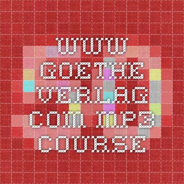 www.goethe-verlag.com mp3 course